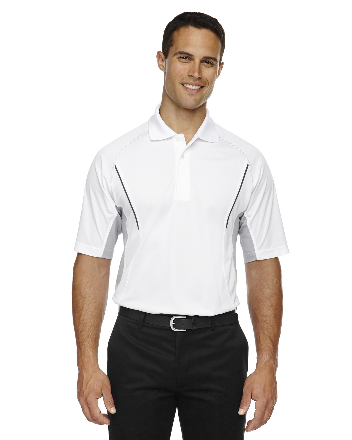 Extreme Men's Eperformance™ Parallel Snag Protection Polo with Piping WHITE