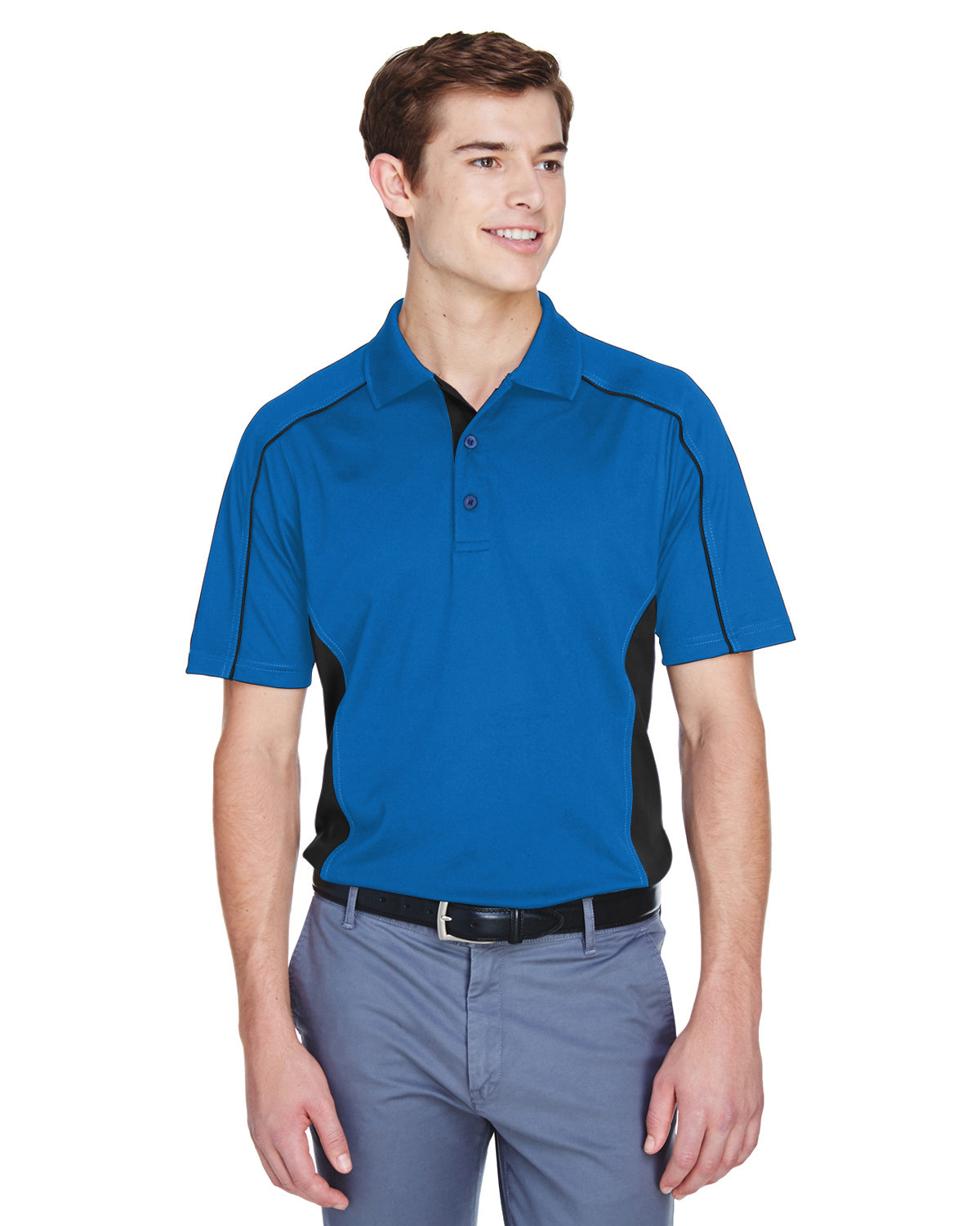 Extreme Men's Eperformance™ Fuse Snag Protection Plus Colorblock Polo TRUE ROYAL/ BLK