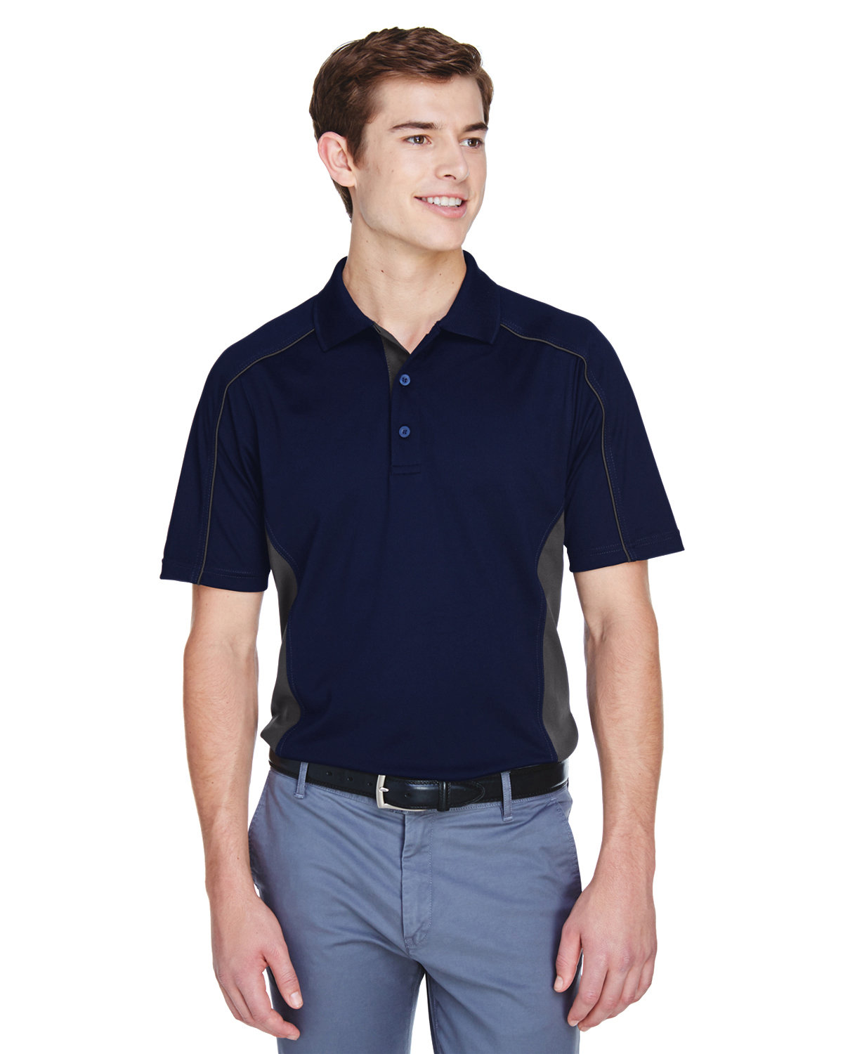 Extreme Men's Tall Eperformance™ Fuse Snag Protection Plus Colorblock Polo CLASC NAVY/ CRBN