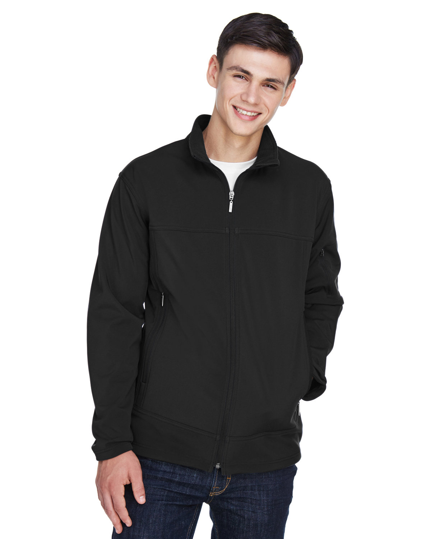 North End Men's Three-Layer Fleece Bonded Performance Soft Shell Jacket BLACK