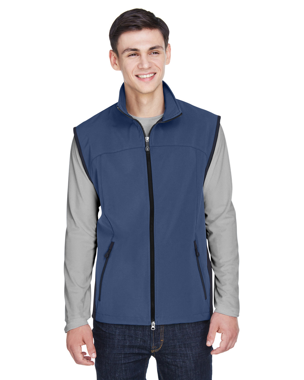 North End Men's Three-Layer Light Bonded Performance Soft Shell Vest REGATA BLUE