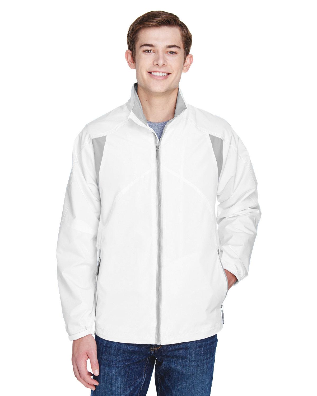 North End Men's EnduranceLightweight Colorblock Jacket WHITE