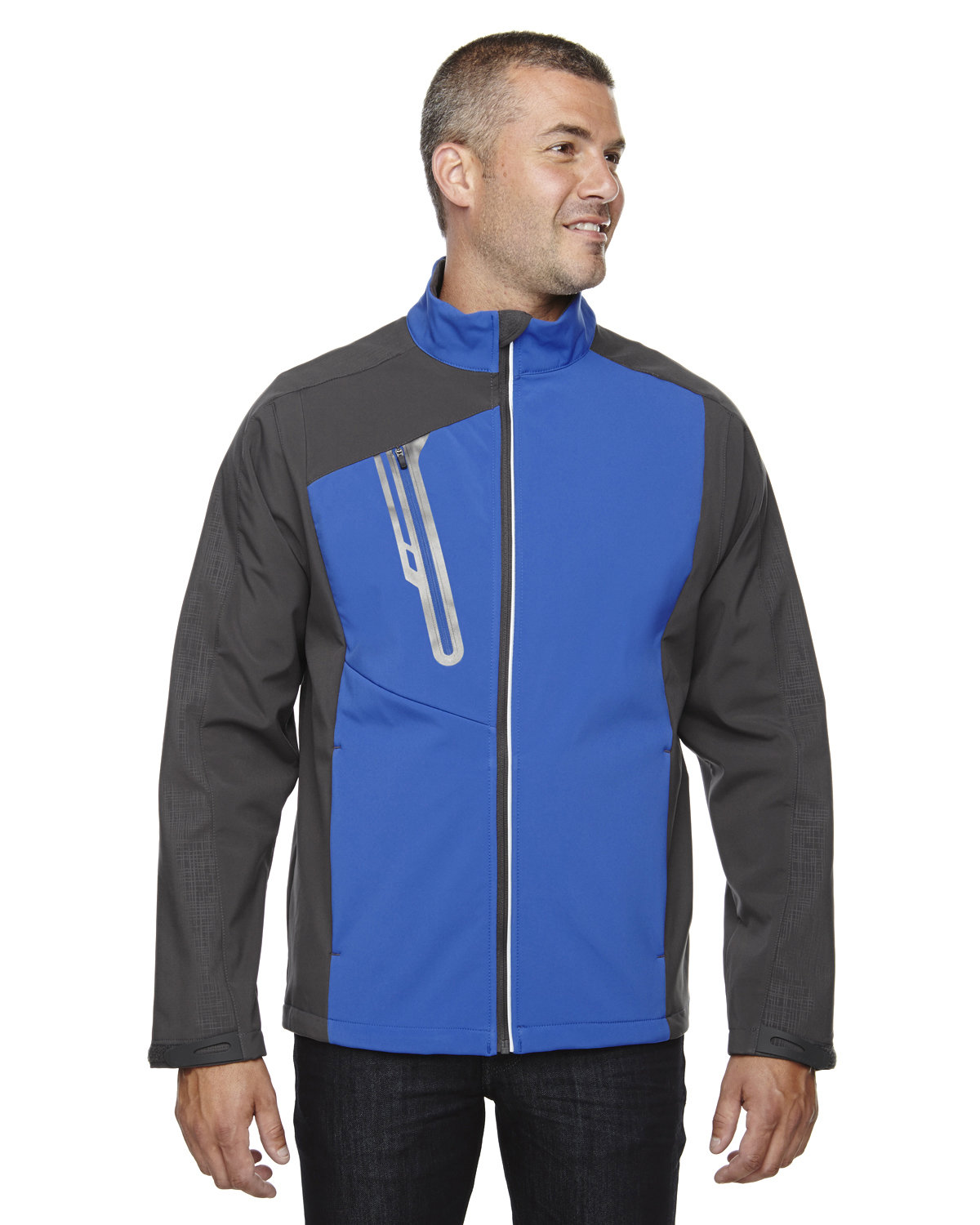 North End Men's Terrain Colorblock Soft Shell with Embossed Print NAUTICAL BLUE