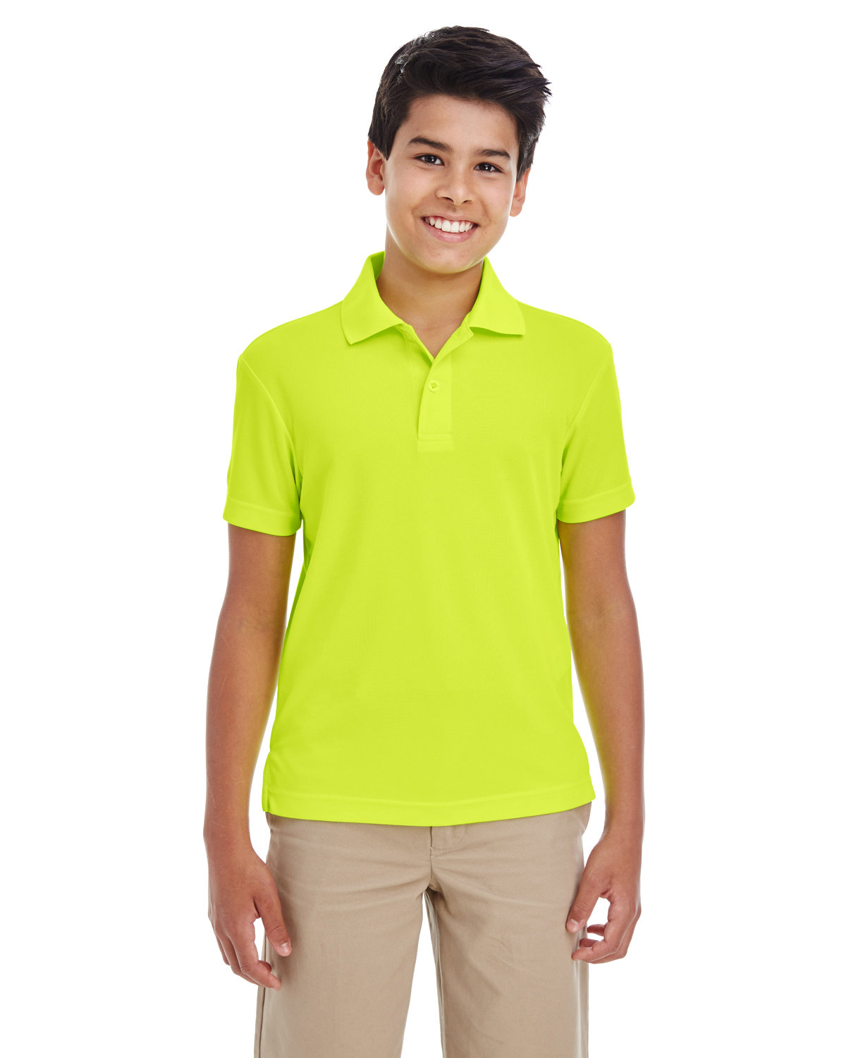 Core 365 Youth Origin Performance Piqué Polo SAFETY YELLOW