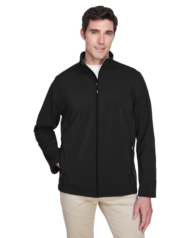 Core 365 Men's Cruise Two-Layer Fleece Bonded SoftShell Jacket BLACK