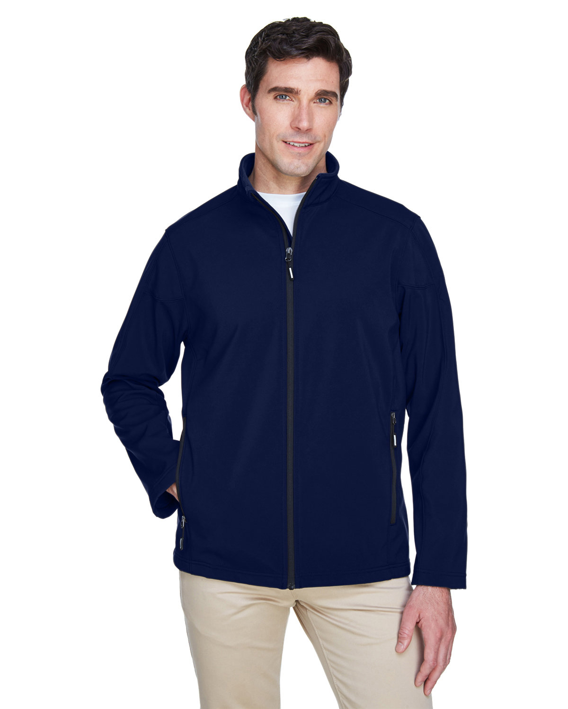 Core 365 Men's Cruise Two-Layer Fleece Bonded SoftShell Jacket CLASSIC NAVY
