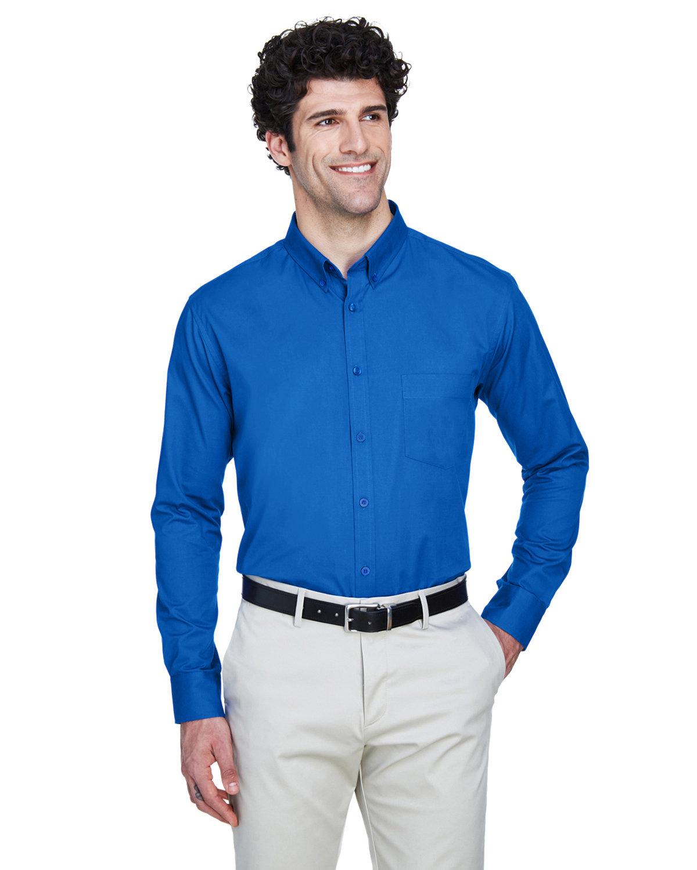 Core 365 Men's Operate Long-Sleeve TwillShirt TRUE ROYAL