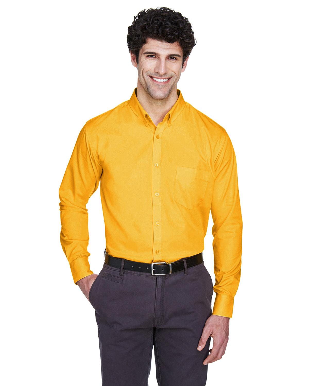 Core 365 Men's Operate Long-Sleeve TwillShirt CAMPUS GOLD