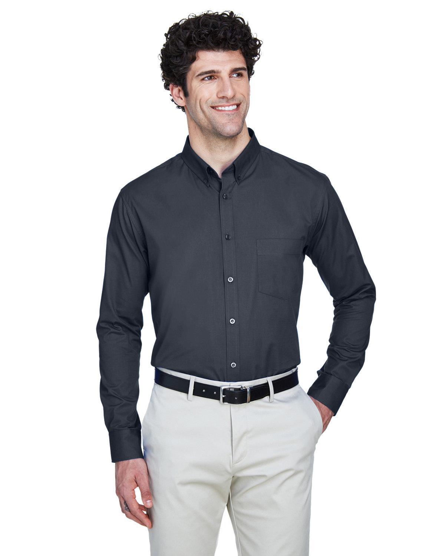 Core 365 Men's Operate Long-Sleeve TwillShirt CARBON