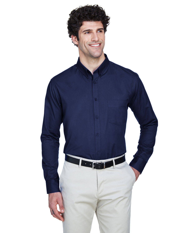 Core 365 Men's Operate Long-Sleeve TwillShirt CLASSIC NAVY