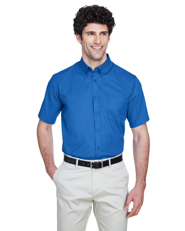Core 365 Men's Optimum Short-Sleeve Twill Shirt TRUE ROYAL