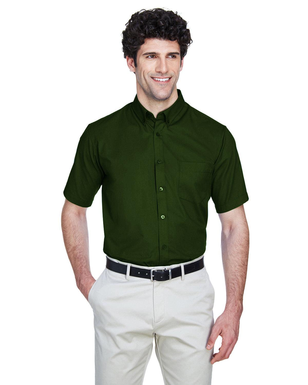 Core 365 Men's Optimum Short-Sleeve Twill Shirt FOREST