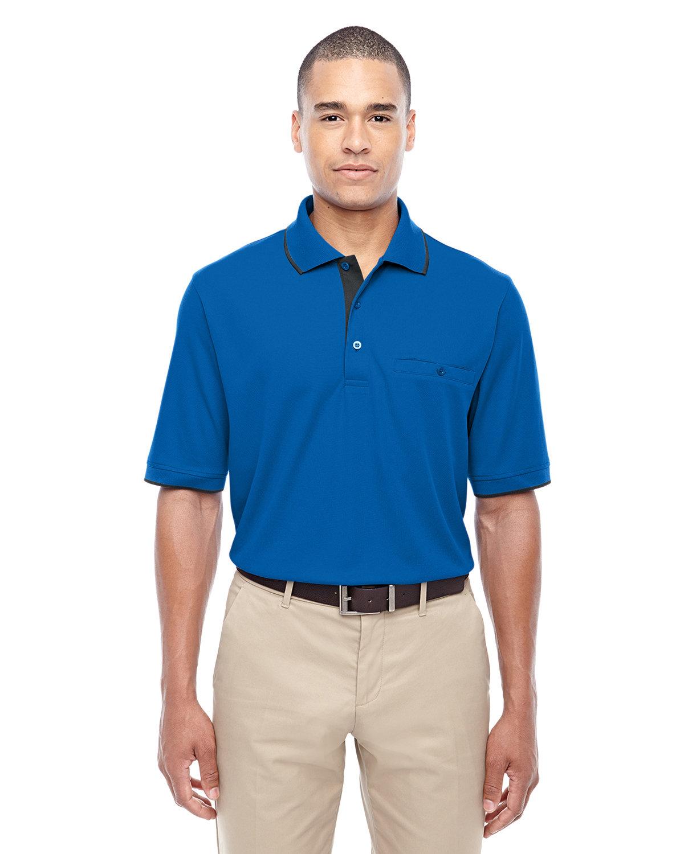 Core 365 Men's Motive Performance Piqué Polo with Tipped Collar TRU ROYAL/ CRBN