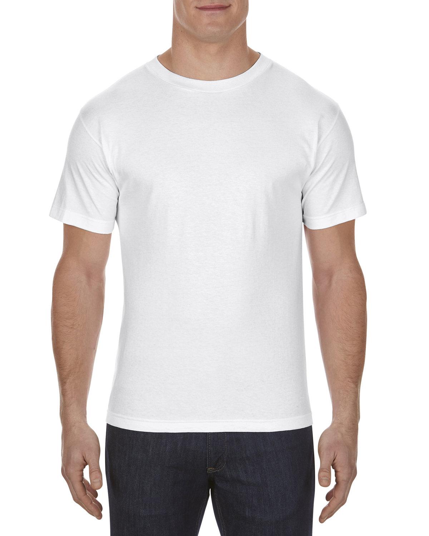 Alstyle Adult 6.0 oz., 100% Cotton T-Shirt WHITE