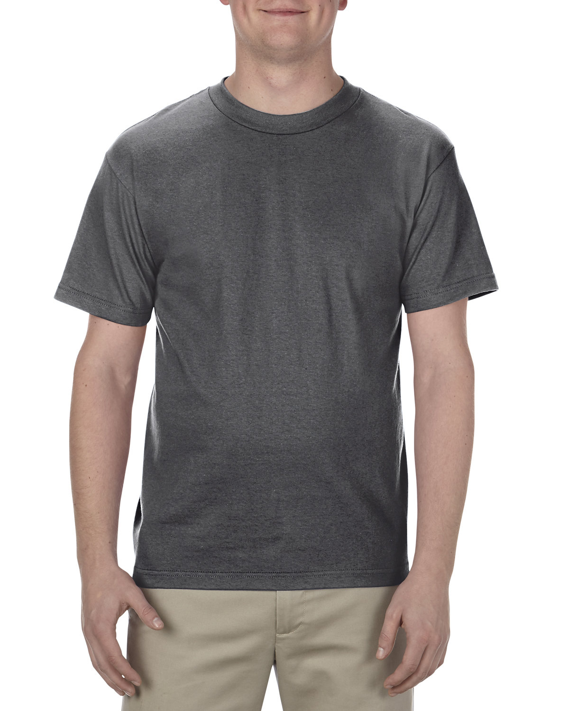 Alstyle Adult 6.0 oz., 100% Cotton T-Shirt CHARCOAL HEATHER