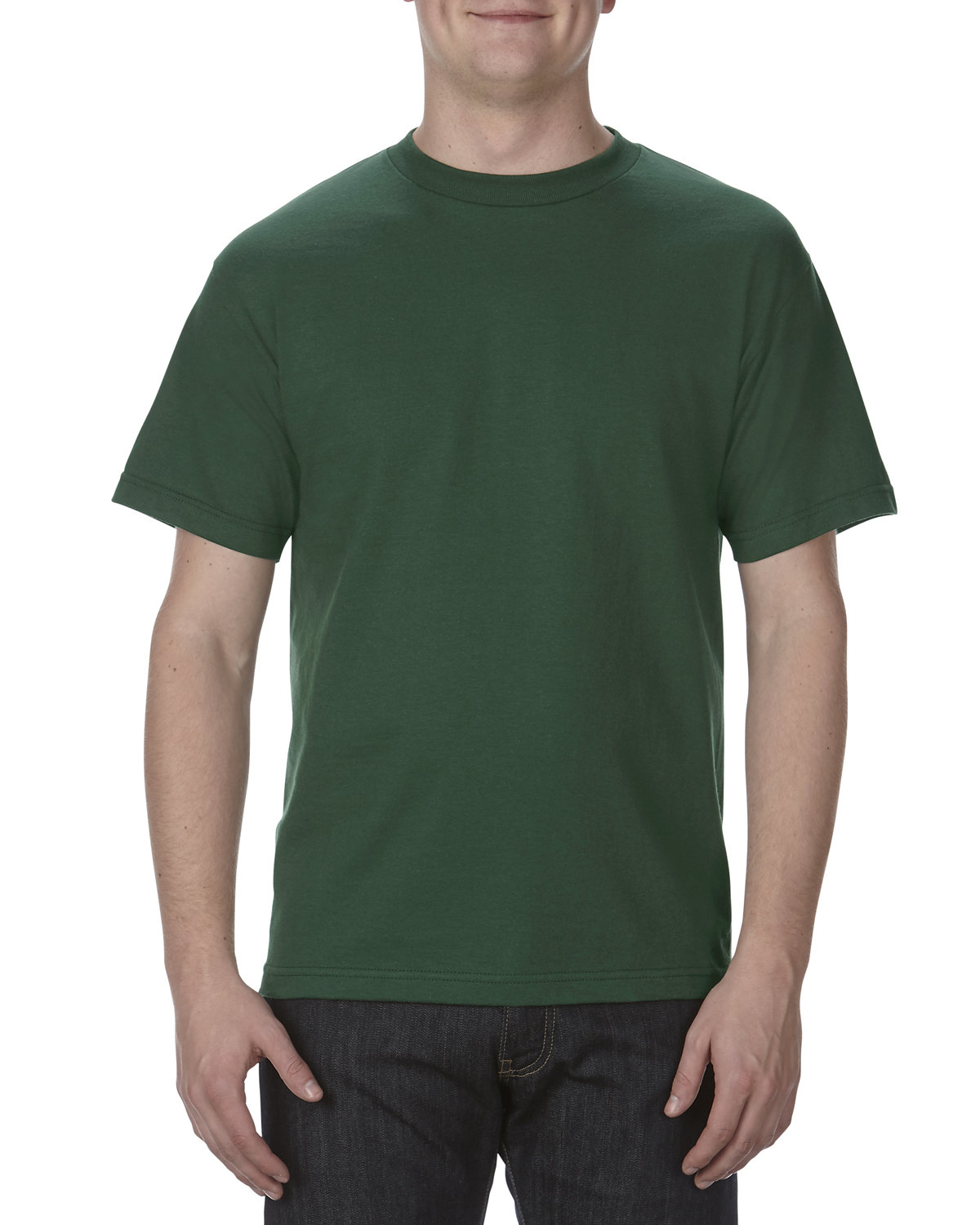 Alstyle Adult 6.0 oz., 100% Cotton T-Shirt FOREST GREEN