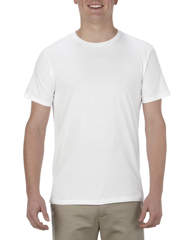 Alstyle Adult 4.3 oz., Ringspun Cotton T-Shirt WHITE