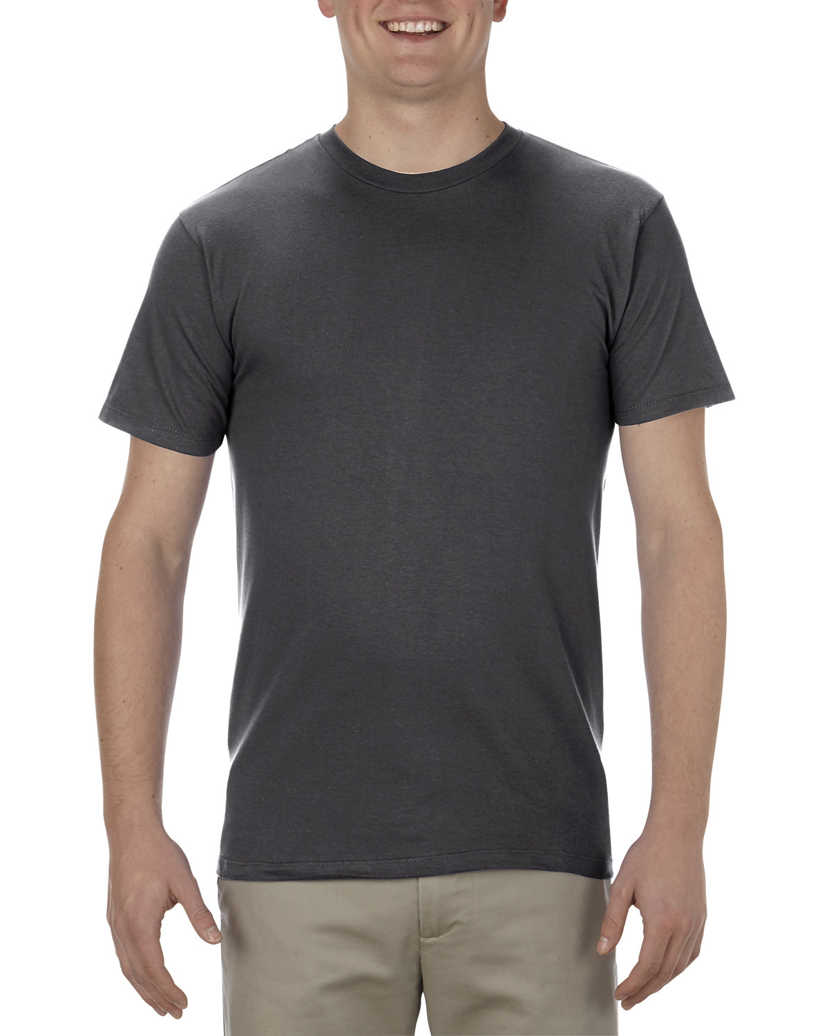 Alstyle Adult 4.3 oz., Ringspun Cotton T-Shirt CHARCOAL HEATHER
