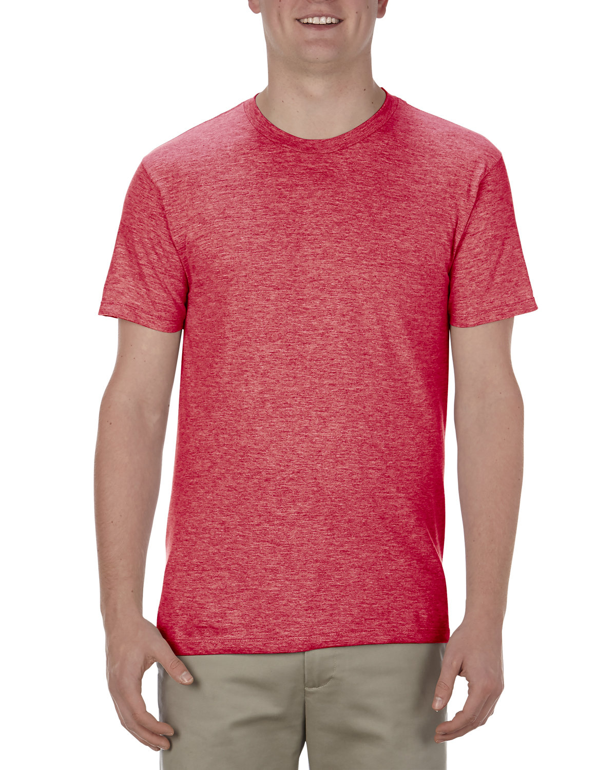 Alstyle Adult 4.3 oz., Ringspun Cotton T-Shirt RED HEATHER