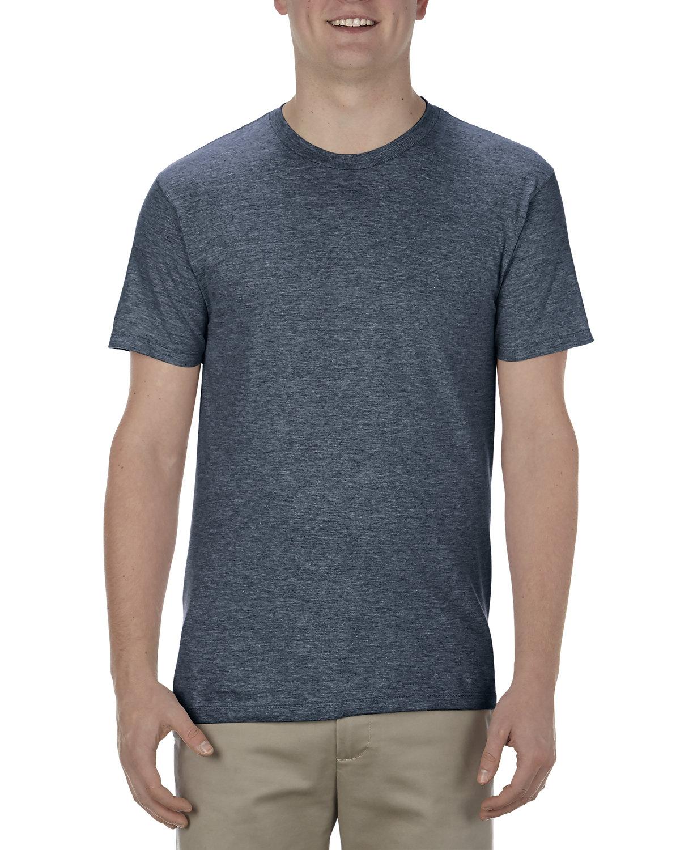 Alstyle Adult 4.3 oz., Ringspun Cotton T-Shirt NAVY HEATHER