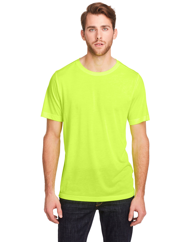 Core 365 Adult Fusion ChromaSoft Performance T-Shirt SAFETY YELLOW