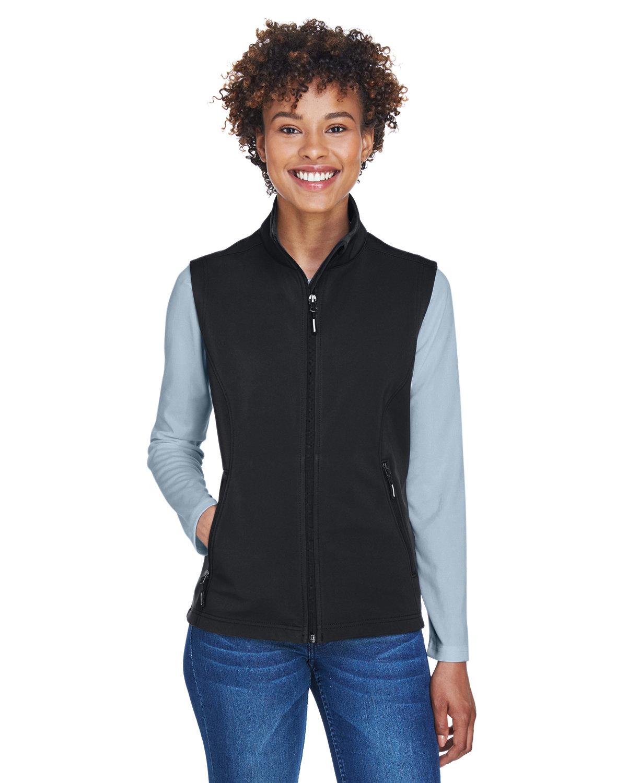 Core 365 Ladies' Cruise Two-Layer Fleece Bonded SoftShell Vest BLACK