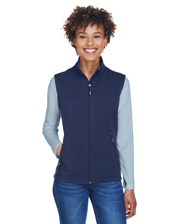 Core 365 Ladies' Cruise Two-Layer Fleece Bonded SoftShell Vest CLASSIC NAVY