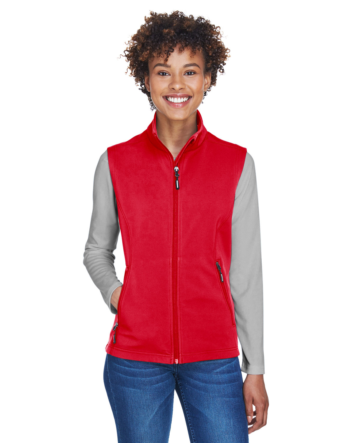Core 365 Ladies' Cruise Two-Layer Fleece Bonded SoftShell Vest CLASSIC RED