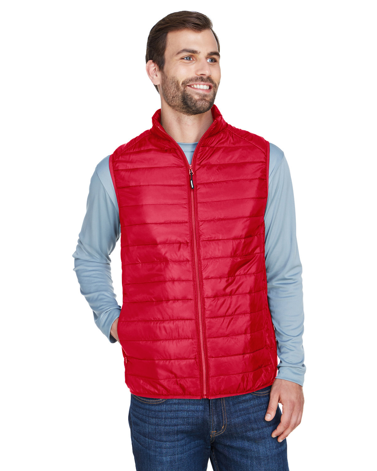 Core 365 Men's Prevail Packable Puffer Vest CLASSIC RED
