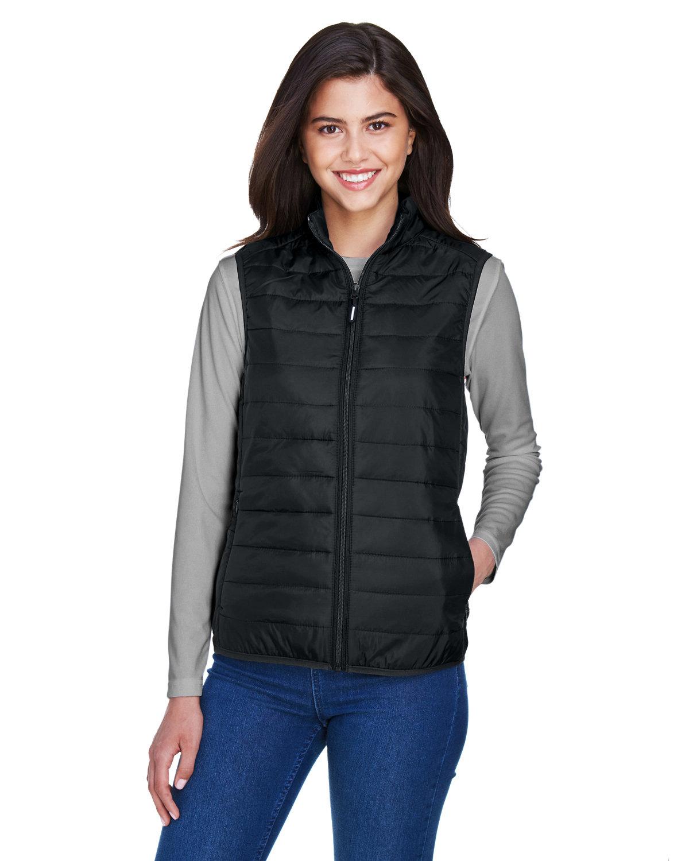 Core 365 Ladies' Prevail Packable Puffer Vest BLACK