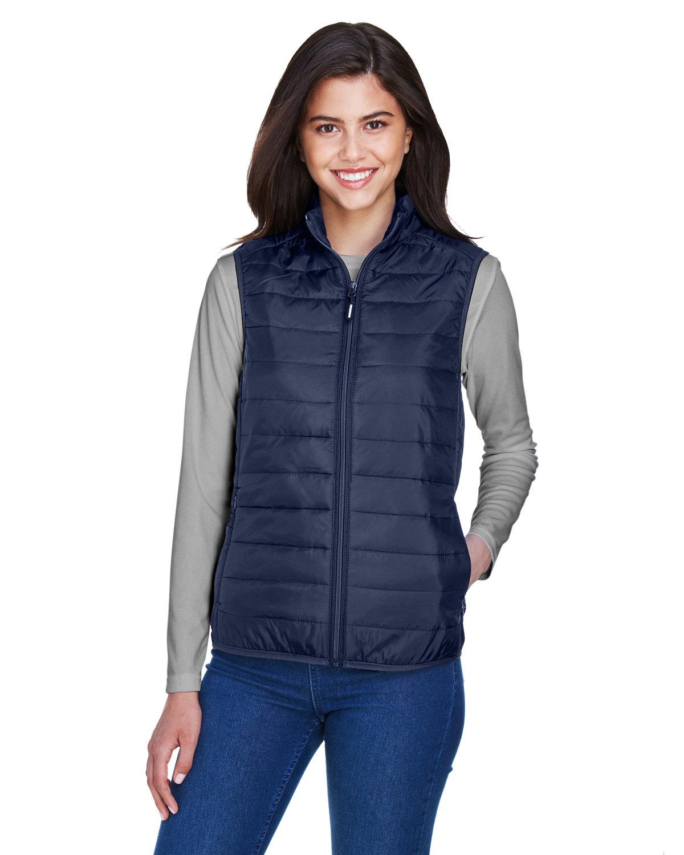Core 365 Ladies' Prevail Packable Puffer Vest CLASSIC NAVY