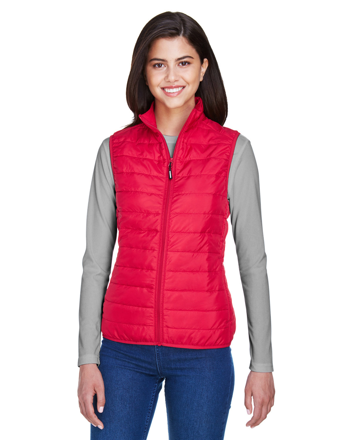 Core 365 Ladies' Prevail Packable Puffer Vest CLASSIC RED