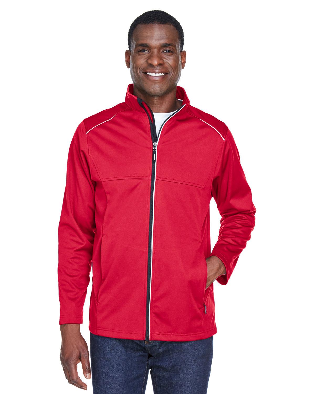 Core 365 Men's Techno Lite Three-Layer Knit Tech-Shell CLASSIC RED