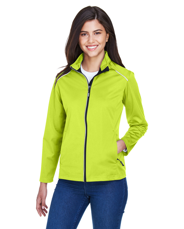 Core 365 Ladies' Techno Lite Three-Layer Knit Tech-Shell SAFETY YELLOW