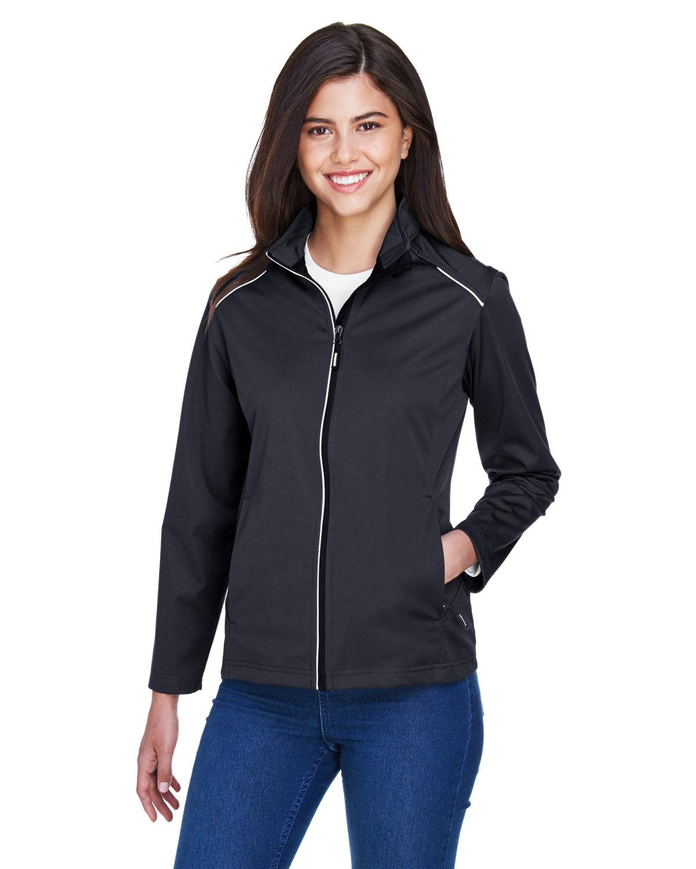 Core 365 Ladies' Techno Lite Three-Layer Knit Tech-Shell BLACK