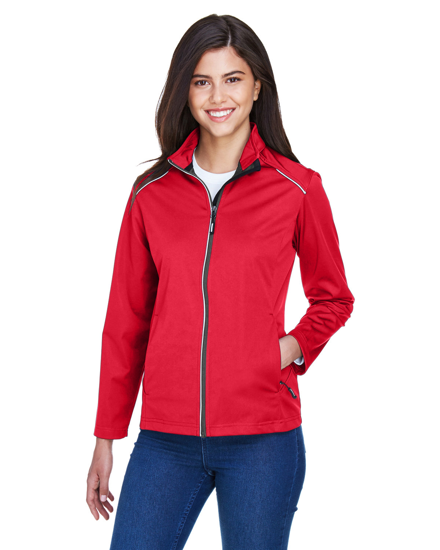 Core 365 Ladies' Techno Lite Three-Layer Knit Tech-Shell CLASSIC RED