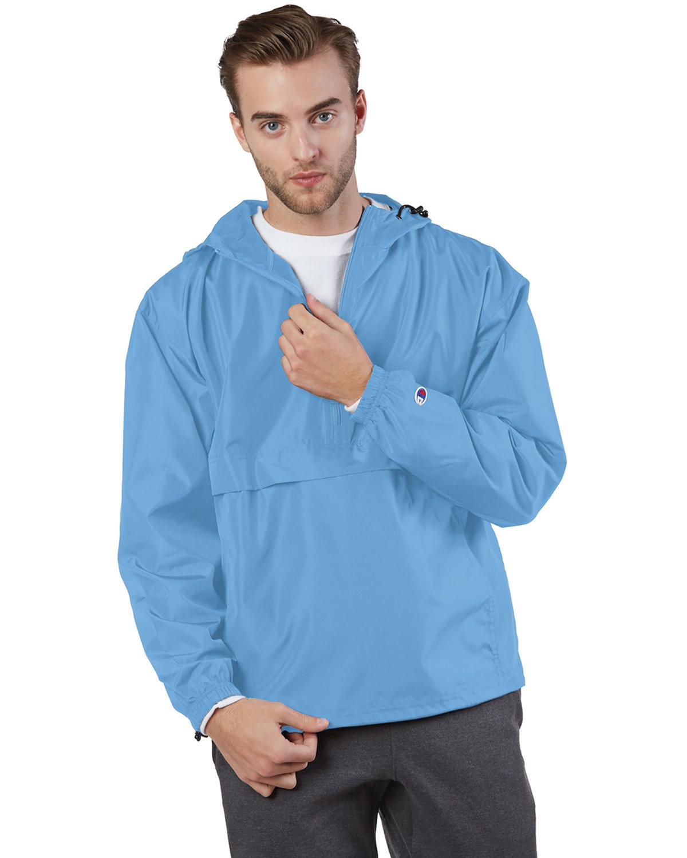 Champion Adult Packable Anorak 1/4 Zip Jacket LIGHT BLUE