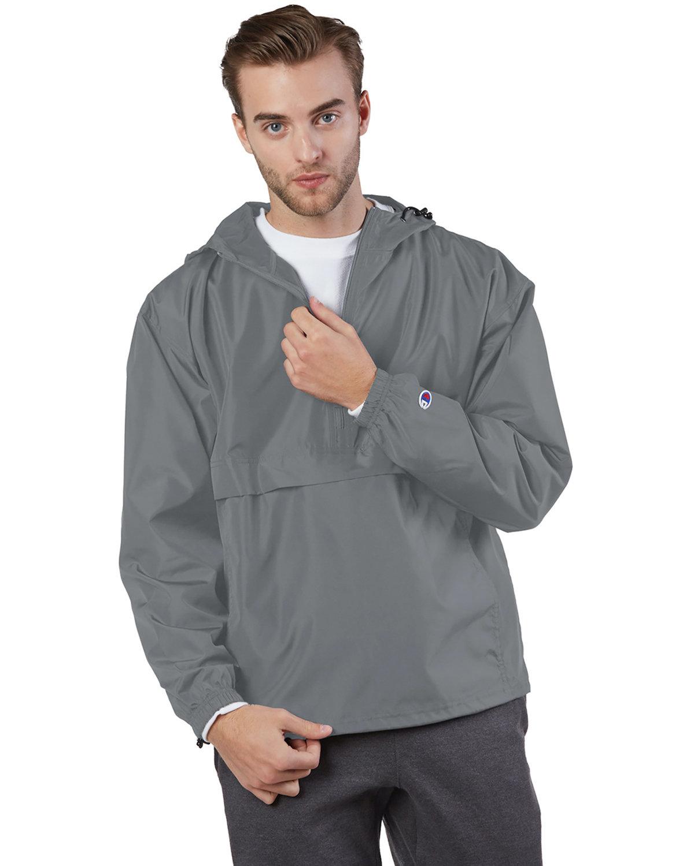 Champion Adult Packable Anorak 1/4 Zip Jacket GRAPHITE