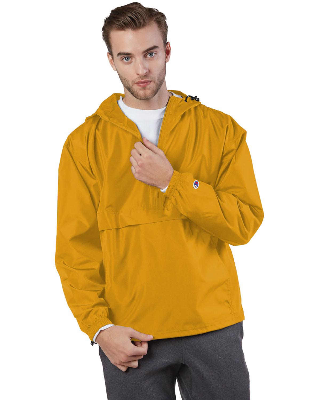 Champion Adult Packable Anorak 1/4 Zip Jacket GOLD