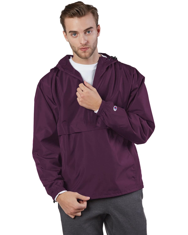 Champion Adult Packable Anorak 1/4 Zip Jacket MAROON