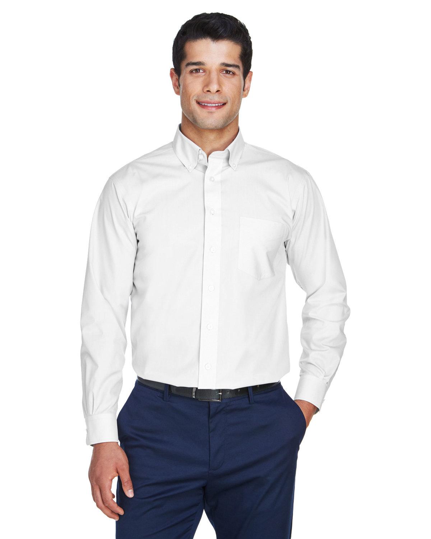 Devon & Jones Men's Crown Woven Collection® Solid Broadcloth WHITE