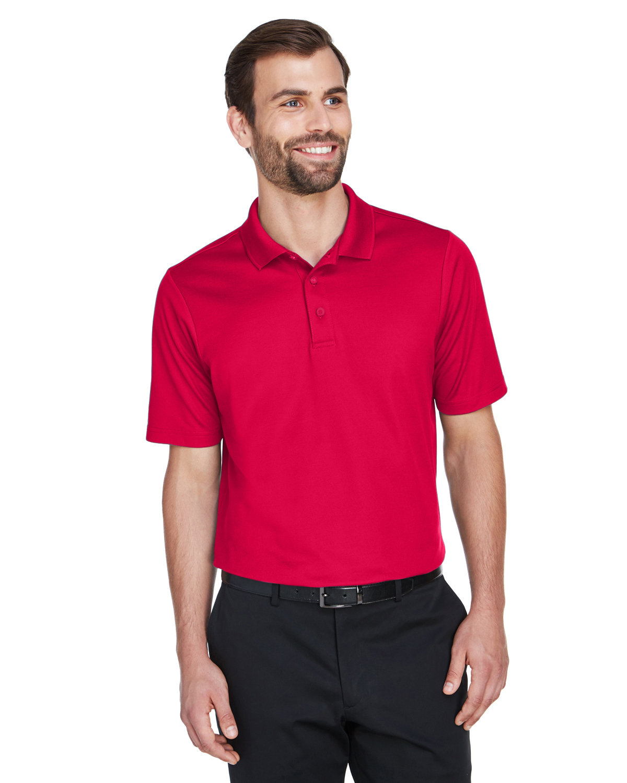 Devon & Jones CrownLux Performance™ Men's Plaited Polo RED
