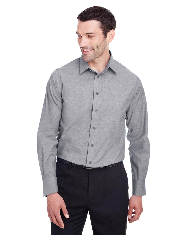 Devon & Jones Men's Crown  Collection® Stretch Pinpoint Chambray Shirt GRAPHITE