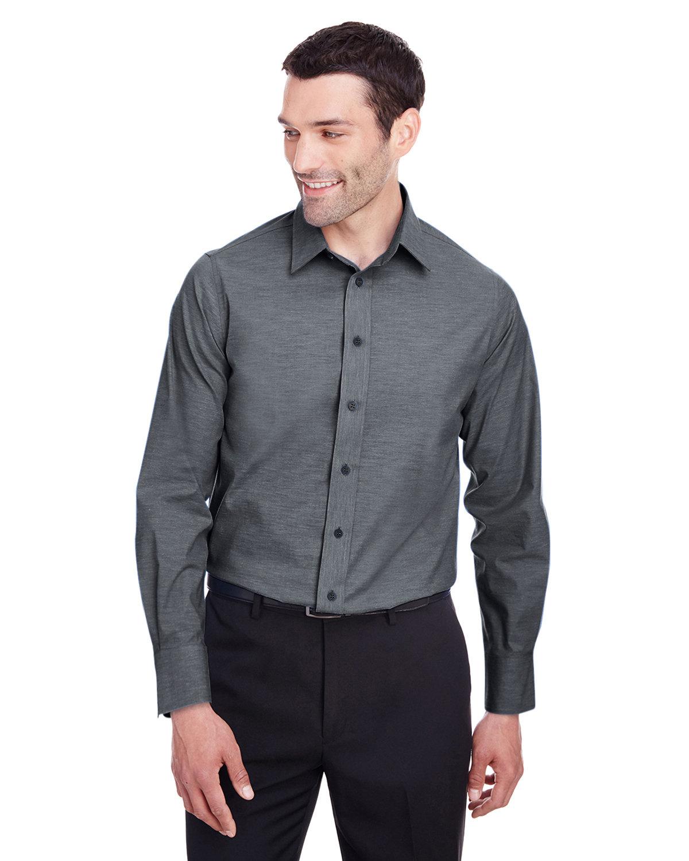 Devon & Jones Men's Crown  Collection® Stretch Pinpoint Chambray Shirt BLACK