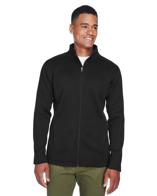 Devon & Jones Men's Bristol Full-Zip Sweater Fleece Jacket BLACK
