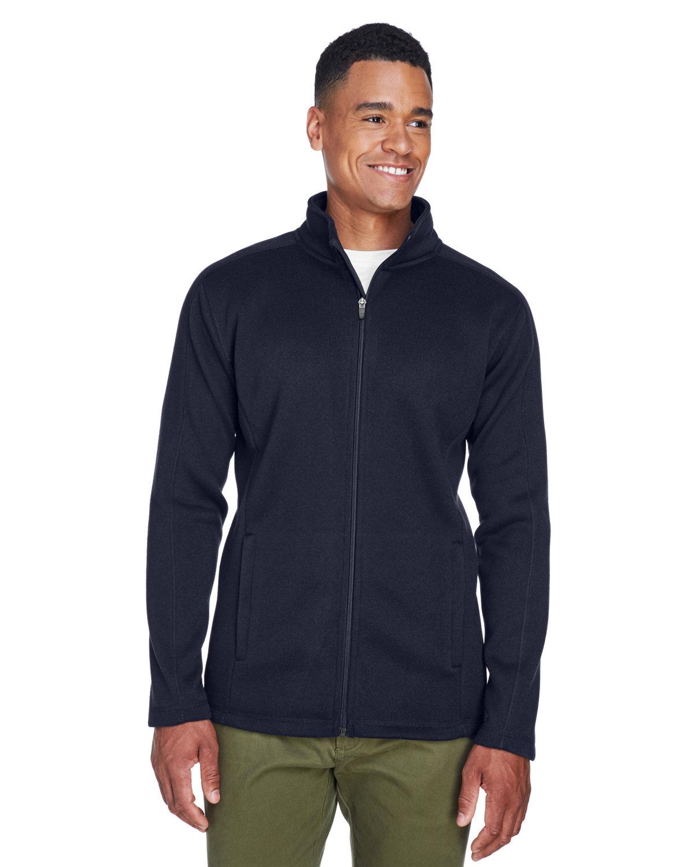 Devon & Jones Men's Bristol Full-Zip Sweater Fleece Jacket NAVY
