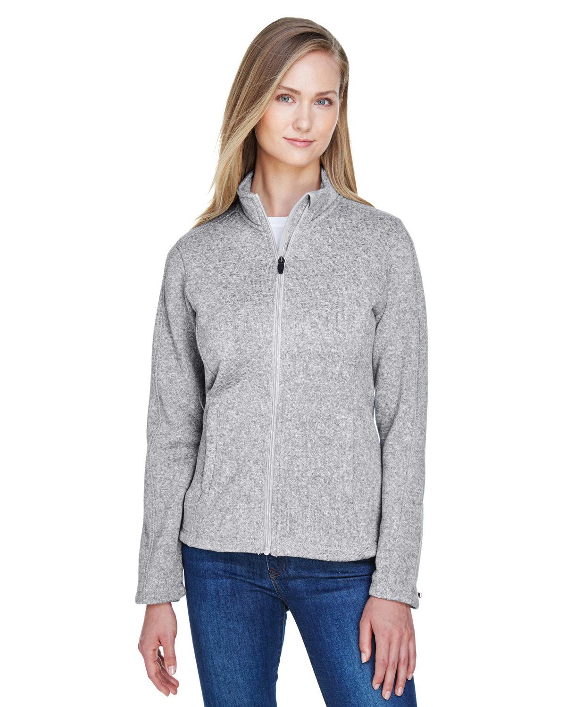 Devon & Jones Ladies' Bristol Full-Zip Sweater Fleece Jacket GREY HEATHER
