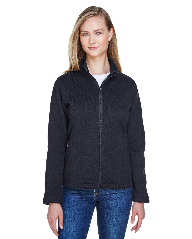 Devon & Jones Ladies' Bristol Full-Zip Sweater Fleece Jacket BLACK