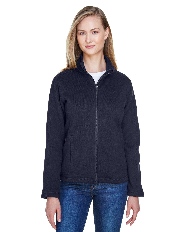 Devon & Jones Ladies' Bristol Full-Zip Sweater Fleece Jacket NAVY