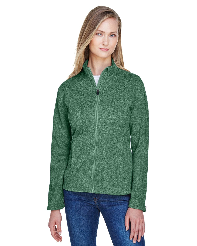 Devon & Jones Ladies' Bristol Full-Zip Sweater Fleece Jacket FOREST HEATHER